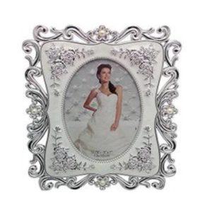 White & Silver Designer Photo Frame