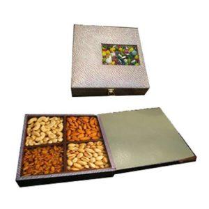 Dry Fruit Wooden Glitter Design Box
