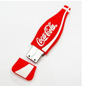 Coca Cola Bottle Shape PVC Pendrive