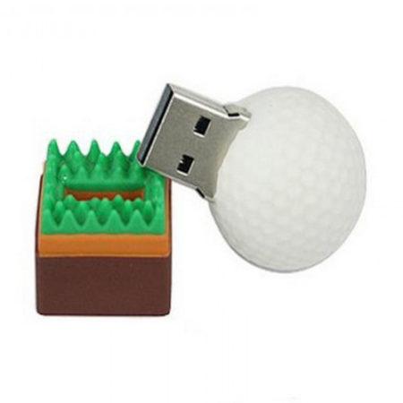 Golf Ball Shape PVC Pendrive
