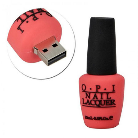 Nailpaint Bottle Shape PVC Pendrive