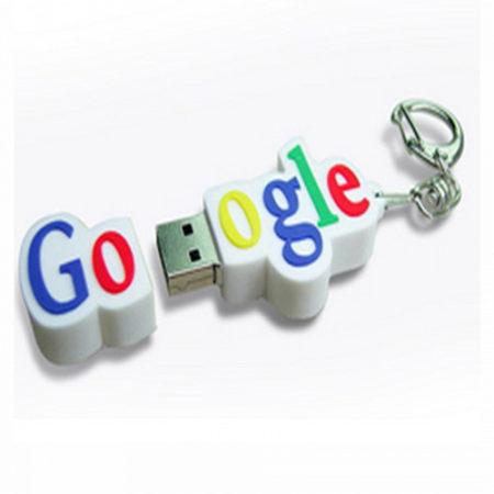Google Logo Shape PVC Pendrive