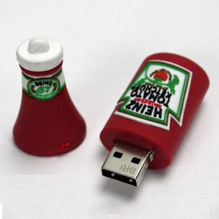 Ketchup Bottle Shape PVC Pendrive