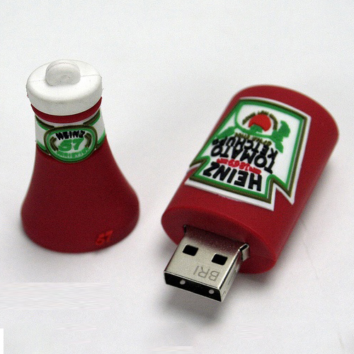 Ketchup Bottle Shape PVC Pendrive