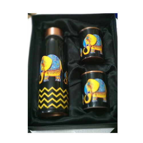 Printed Leak Proof Copper Bottle Set