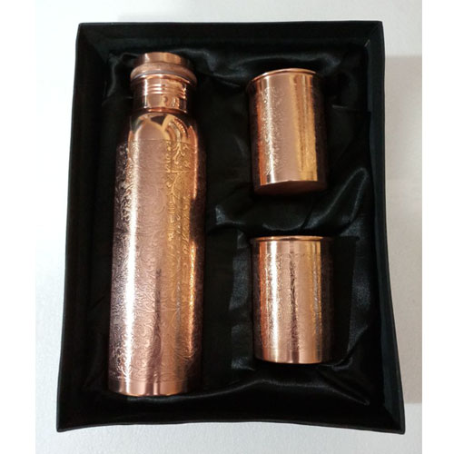 Designer Leak Proof Copper Bottle Set