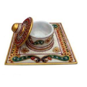 Marble Dabbi Plate, Diwali gifting, gifts