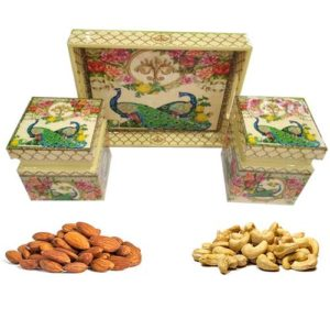 Wooden Tray With Dry Fruits