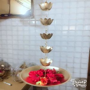 Hanging Lotus Style Candle Holder