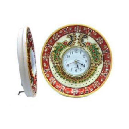 Marble Table Clock 6""