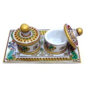 Marble Dabbi plate, gifts, Diwali gifitng