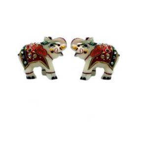 Marble Elephant pair, Home decor, diwali gifting