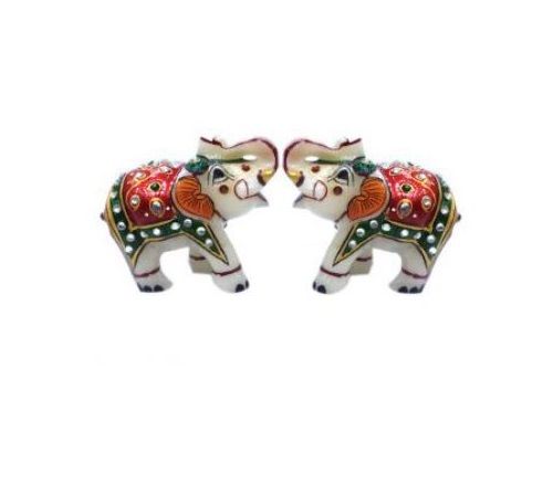 "Marble Elephant 2.5"", Diwali gifting, home decor"