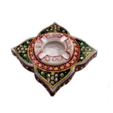 Marble Kundan Ashtray