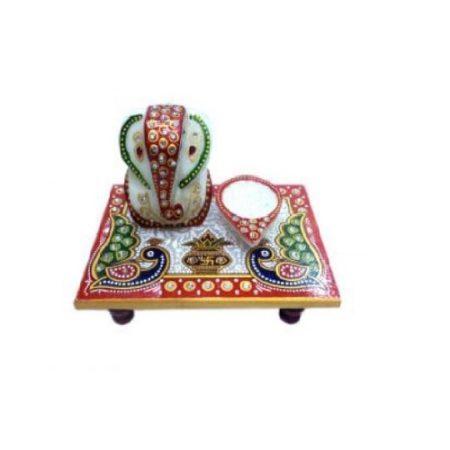 Marble Diya Patta Ganesh