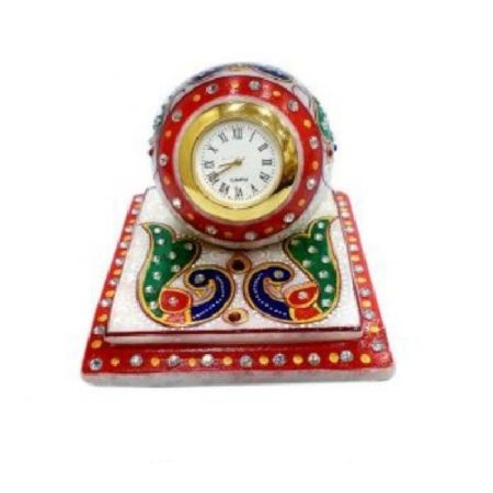 Marble table clock, diwali gifts,gifts