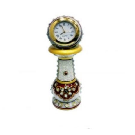 Marble Table Clock Pillar Stand