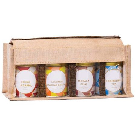 Tea Hamper Jutebags | Tea Hampers