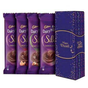 Cadbury Dairy Milk Silk Bookcase Pack with Happy Diwali