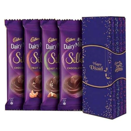 Cadbury Dairy Milk Silk Bookcase Pack with Happy Diwali