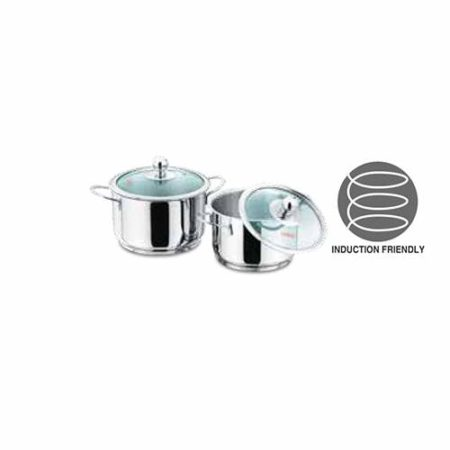 Vinod Stainless Steel Tuscany Cookware Set 2 Pcs