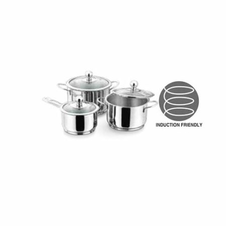 Vinod Stainless Steel Tuscany Cookware Set 3 Pcs