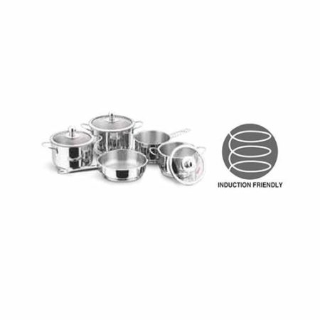 Vinod Stainless Steel Tuscany Cookware Set 5 Pcs