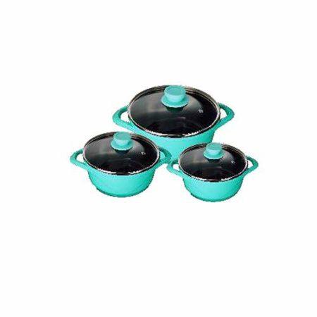 Wonderchef Casserole Cookware Set | Aqua Marine Ceramide
