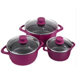 Wonderchef Casserole Cookware Set | Purple Ceramide