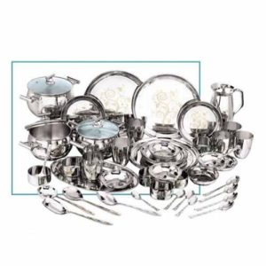 Vinod Stainless Steel 51 Pc Ceremony Dinner Set