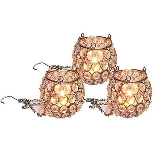 Crystal Hanging Tealight Holder