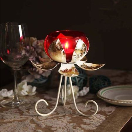 AG Flower Standing Tealight Holder