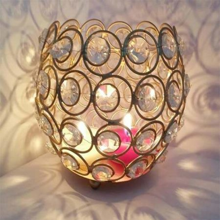 Decorative Crystal Tealight Holder