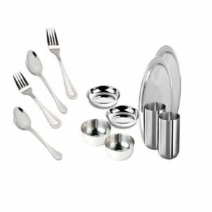Stainless Steel Two Person Dinner Set - 12 pcs