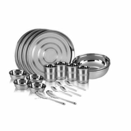 Stainless Steel 18 Pcs Dinner Set