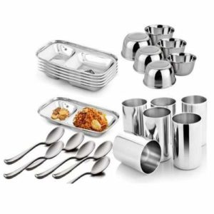 Stainless Steel Dinner Set 24pcs