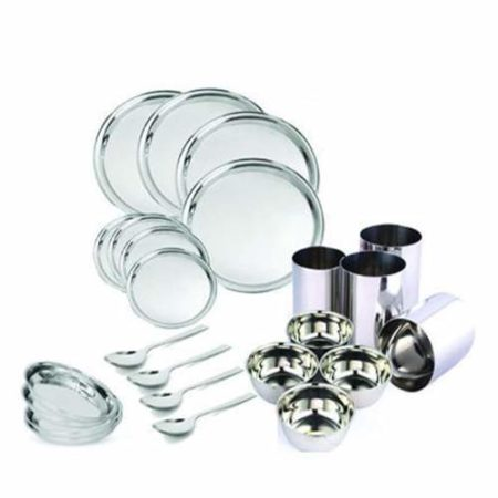 Stainless Steel Dinner Set of 24pcs