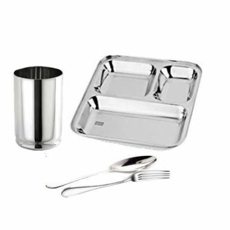 Stainless Steel One Person Dinner Set