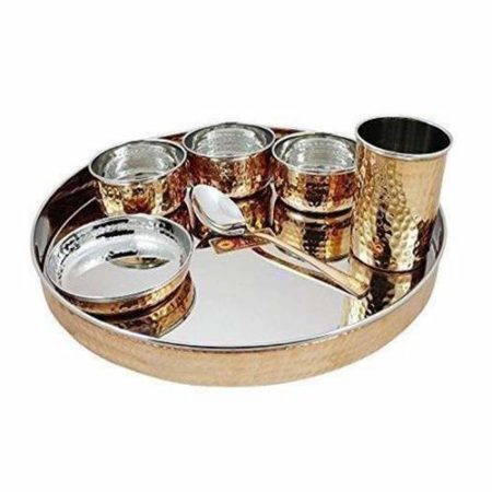 Stainless Steel Copper Dinner Set of 7 pcs