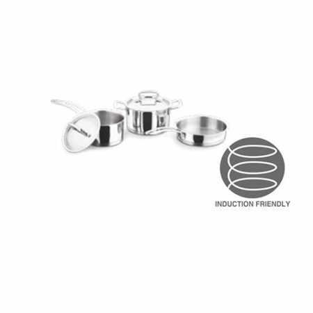 Vinod Stainless Steel Classique Deluxe 3 Pc Cookware Set