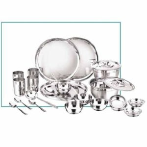 Vinod Stainless Steel 24 Pc Dinner Set