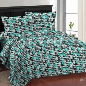 Bombay Dyeing Iris Plus Cotton Bedsheet with 2 Pillow Covers