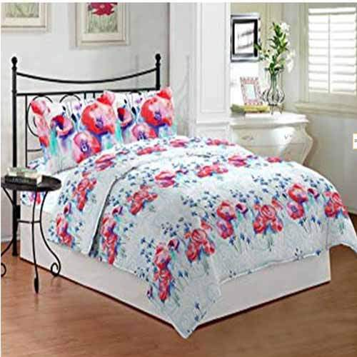 Bombay Dyeing Roseum Cotton Bedsheet with 2 Pillow Covers