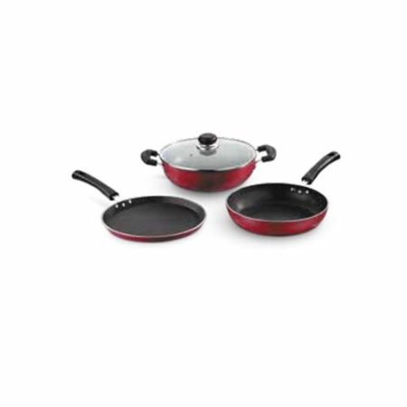 Vinod Non-Stick Zest Inducto Combo Cookware Set 3 Pcs