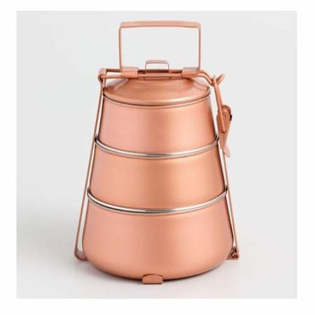 Enamel Copper Tiffin Box- 3 tier