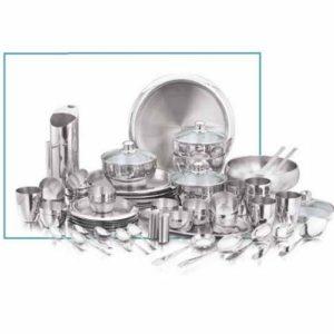 Vinod Stainless Steel 63 Pc Premium Dinner Set