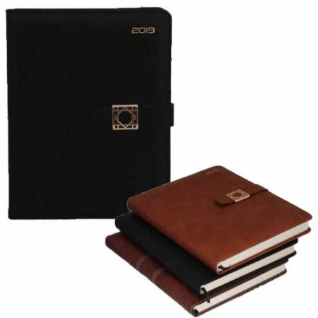 Leather with Maze Fitting Diary