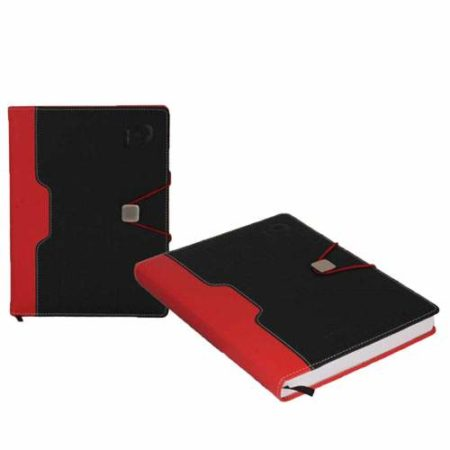 Matty PU Black and Red Colour Diary