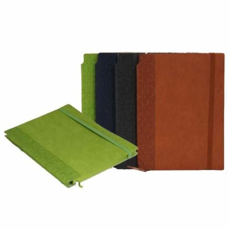 Notebook with Pen Slot & Back Elastic Closure, A5 Size