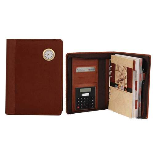 Organiser Diary With Clock, Calculator, Pen & Zipper